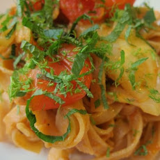Roasted Tomato and Fennel with Tagliatelle