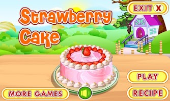 Screenshot of Strawberry Cake Cooking