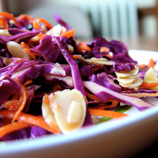 Purple Cabbage Salad with Currants, Carrots, and Almonds