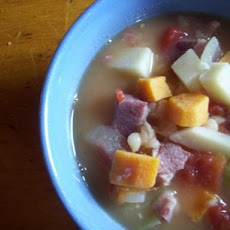 Great Northern Bean, Ham and  Vegetable Chowder
