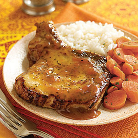 ... And Roasted Pork Chops With Apricot-Dijon Sauce Recipe — Dishmaps