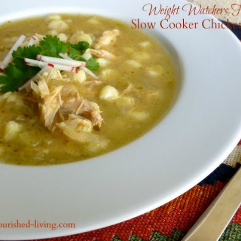 Easy Slow Cooker Chicken Posole Soup
