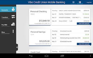 Screenshot of Vibe Credit Union
