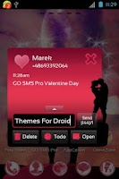 Screenshot of GO SMS Pro Valentine Day