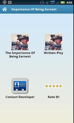 玩書籍App|Importance Of Being Earnest免費|APP試玩