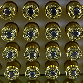 by Dipali S - Artistic Objects Other Objects ( self defence, safety, violence, pattern, 9mm, gun, golden, bullets, shooting )
