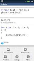 Screenshot of C# To Go