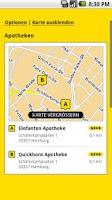 Screenshot of Gelbe Seiten Notfall-App