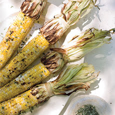 Grilled Corn with Cilantro Salt