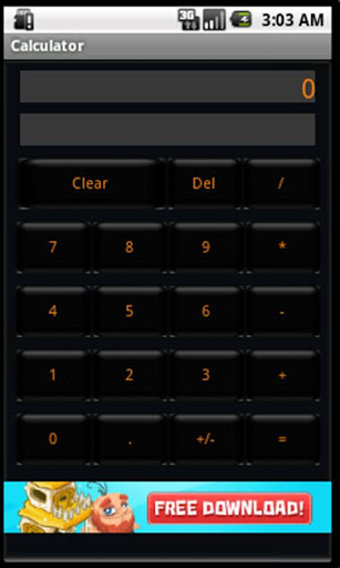 Basic Calculator Black