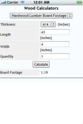 Wood Calculators