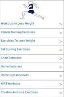 Screenshot of Fat Burning Exercises