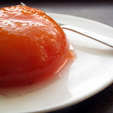 Nectarines Poached in Lavender-Honey Syrup