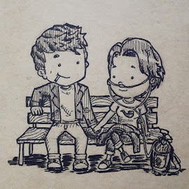 Augustus Waters & Hazel Grace - the fault in our stars  by Yokholius Nugroho - Drawing All Drawing