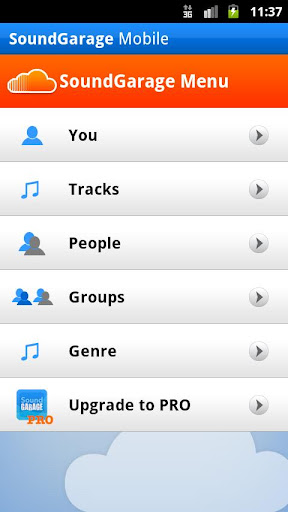 soundgarage-for-soundcloud for android screenshot