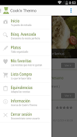 Screenshot of Cook'n Thermo: Recetas TMX