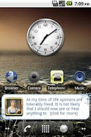 Screenshot of Jane Austen Quotes with Widget
