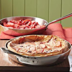 Dutch Baby with Apple & Cranberry Compote