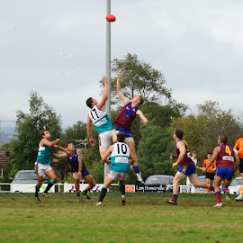 The Ball Up by Jefferson Welsh - Sports & Fitness Australian rules football