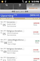 Screenshot of aCheckbook - Expense Manager
