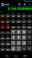 Screenshot of NeoCal Advanced Calculator