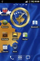 Screenshot of Republic of Kosovo flag clocks