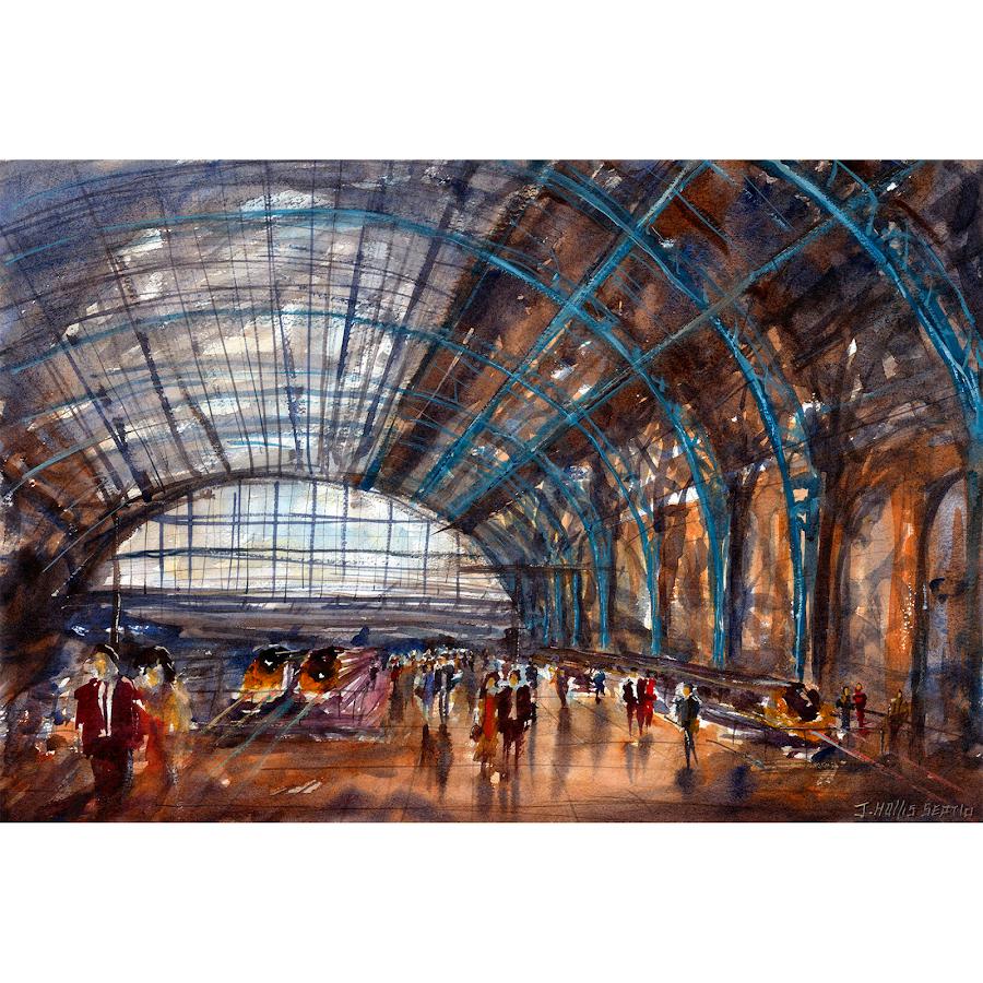 London St Pancras Painting art