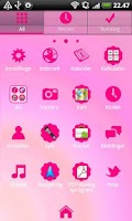 Screenshot of Hot Pink GO Launcher EX Theme