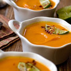 Sweet Potato Soup With Ginger & Vanilla
