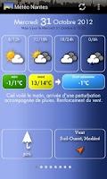 Screenshot of Météo Nantes