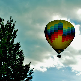Ballooning In Letchworth Park by Rhonda Rossi - Transportation Other (  )