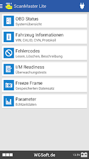 ScanMaster für ELM327 OBD-2 Diagnose Screenshot