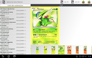 Screenshot of Pokemon tcg manager