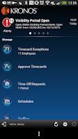 Screenshot of Kronos Mobile