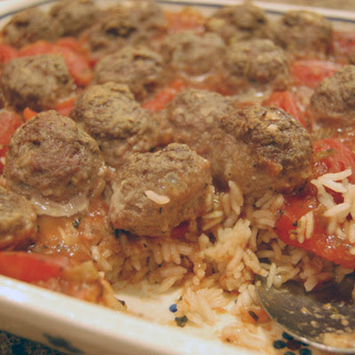 Meatballs and Spanish Rice