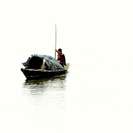 by Sumit Mohanta - Transportation Boats ( water, boat, man )