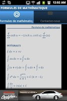 Screenshot of Formules de mathématique