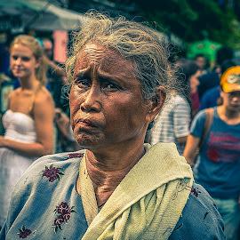 Wise by Muhammad Irfan Farooq - People Street & Candids ( bangkok, old, steet, thai, candid, people, women )