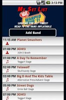 Screenshot of Vans Warped Tour 2011 App