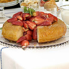 Strawberry & Sweet Wine Savarin