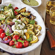 Grilled Vegetable Caprese with Pesto