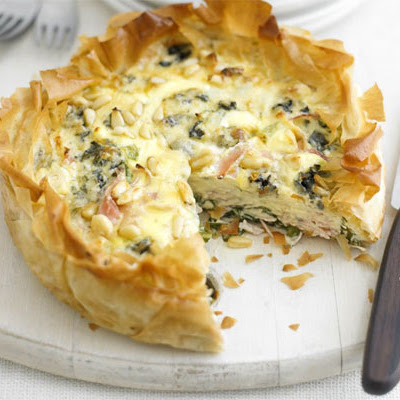 Ham & Blue Cheese Tart