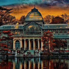 Cristal Palace by Yara GB - Buildings & Architecture Office Buildings & Hotels ( hdr, madrid, lake, hotel, nikon, palace )