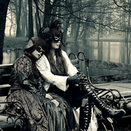 Gothic Couple by Franky Go - People Couples ( cosplay, fashion, gothic, vampire, couple, darkness,  )