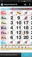 Screenshot of 2013 Malaysia Calendar HD