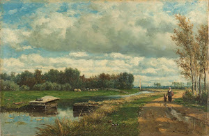RIJKS: Willem Roelofs (I): Landscape in the Environs of The Hague 1875