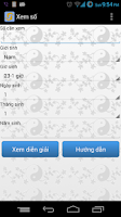 Screenshot of Xem số phong thủy