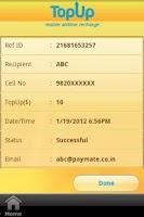 Screenshot of TopUp