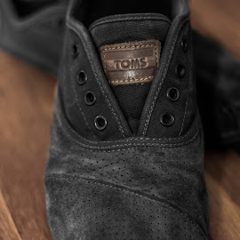 TOMS Suede Cordones by Andrew J Knepper - Artistic Objects Clothing & Accessories ( shoes, toms, selective color, cordones, suede, close up, photography, artistic, object )