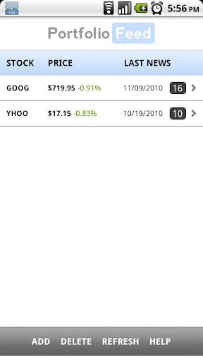 Stock Portfolio Feed
